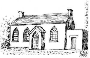 A reconstructed image of Southport's first Meeting House in 1826